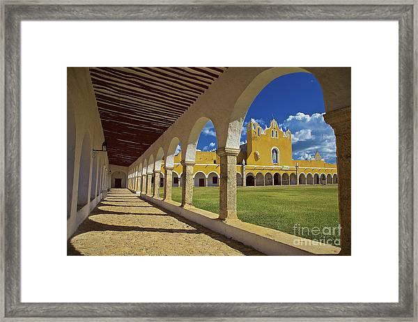 The Yellow City Of Izamal, Mexico Framed Print