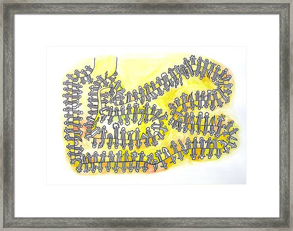 The Yellow Holons Universe Framed Print