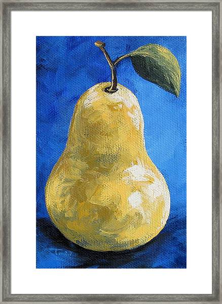 The Yellow Pear II Redux Again Framed Print by Torrie Smiley