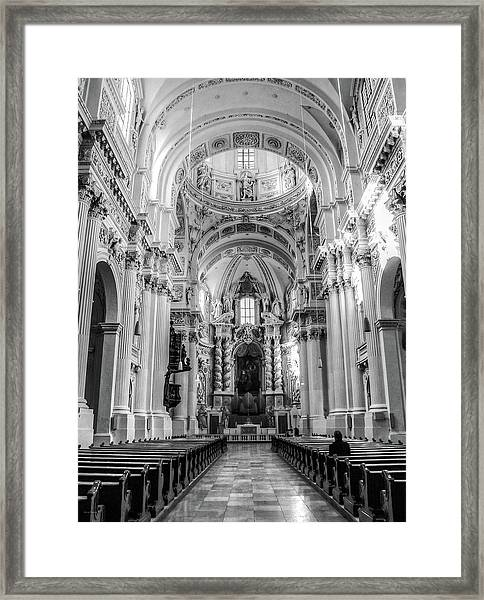 Theatinerkirche St. Kajetan Framed Print