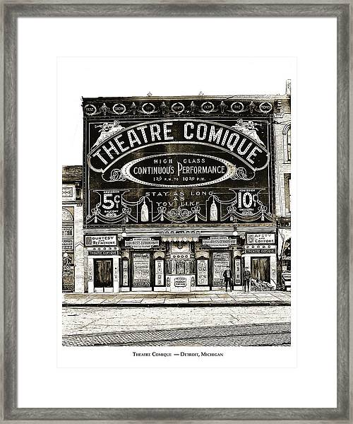 Theatre Comique Framed Print
