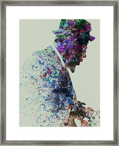Thelonious Monk Watercolor 1 Framed Print