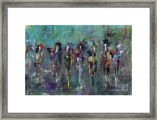 Then Came Seven Horses Framed Print