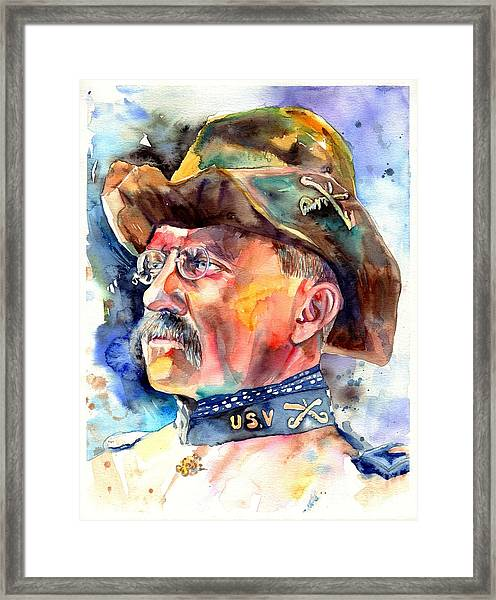 Theodore Roosevelt Painting Framed Print