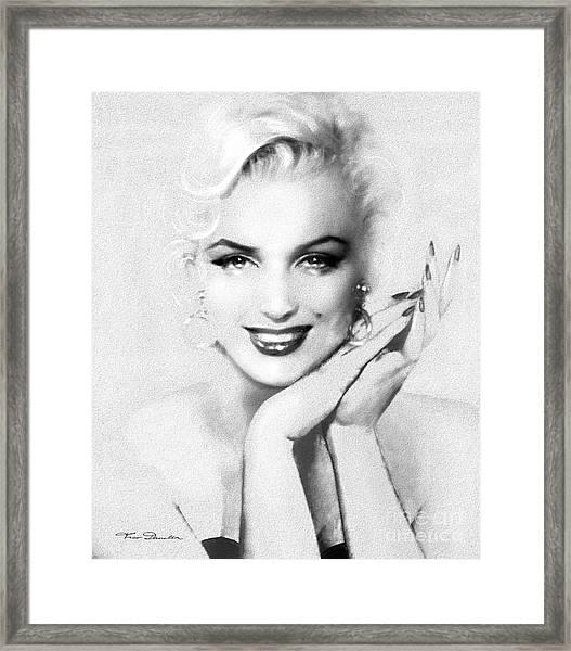 Theo's Marilyn 133 Bw Framed Print