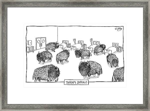 Therapy Buffalo Framed Print