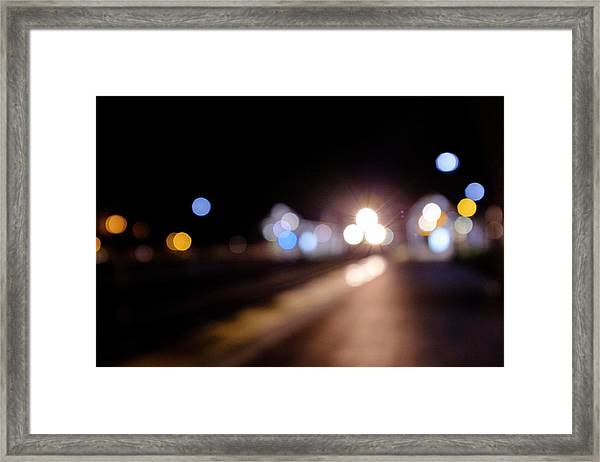 There Is A Train Coming In Winter Park Florida Framed Print