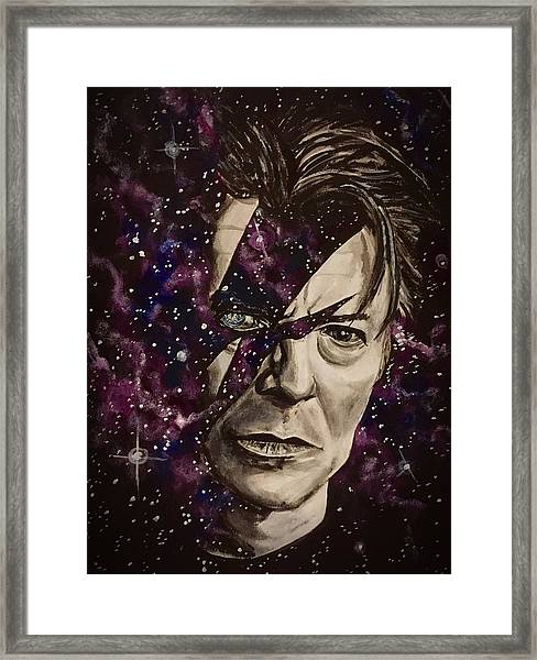 There's A Starman Waiting In The Sky Framed Print