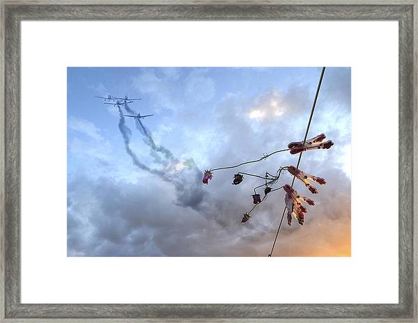 They Are Coming... Framed Print