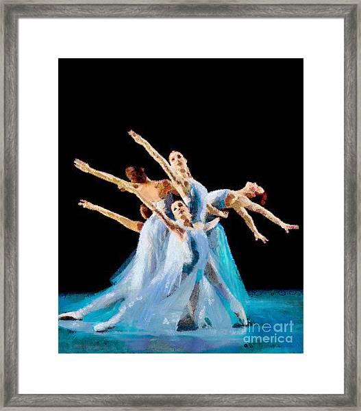 They Danced Framed Print