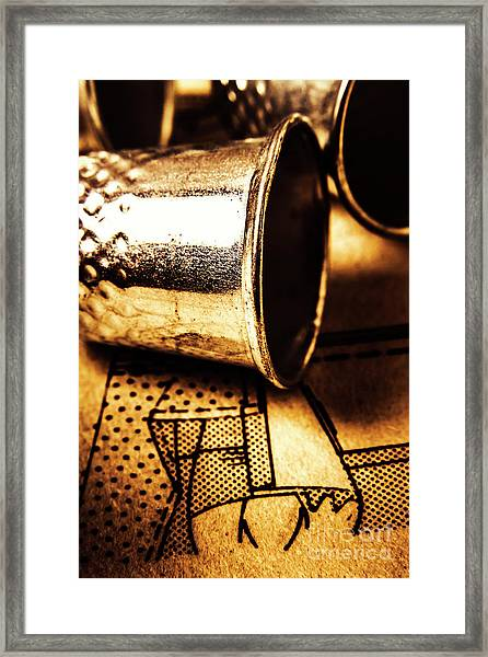 Thimble By Design Framed Print