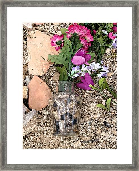 Things Remembered Terlingua Cemetary Framed Print