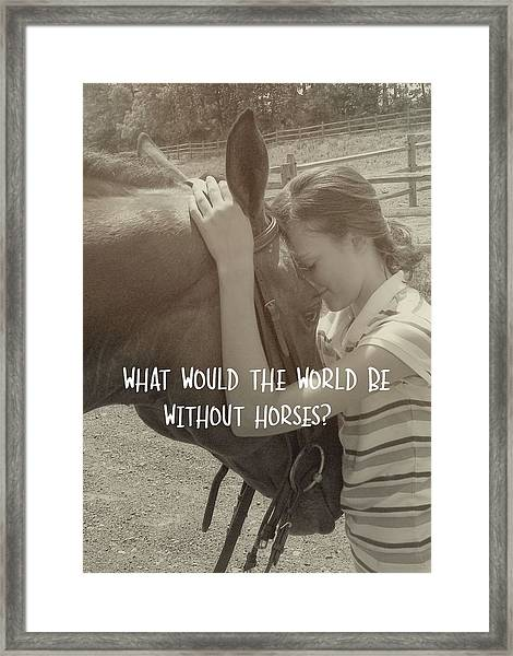 Think As One Quote Framed Print