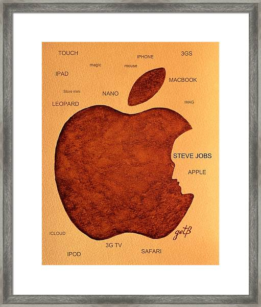 Think Different Steve Jobs 2 Framed Print
