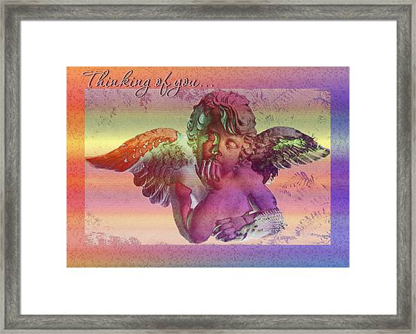 Thinking Of You Card Framed Print