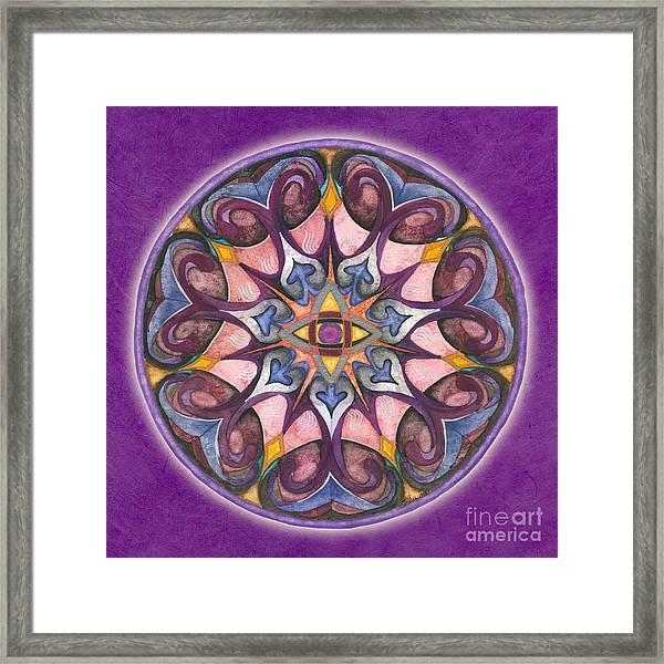 Third Eye Mandala Framed Print