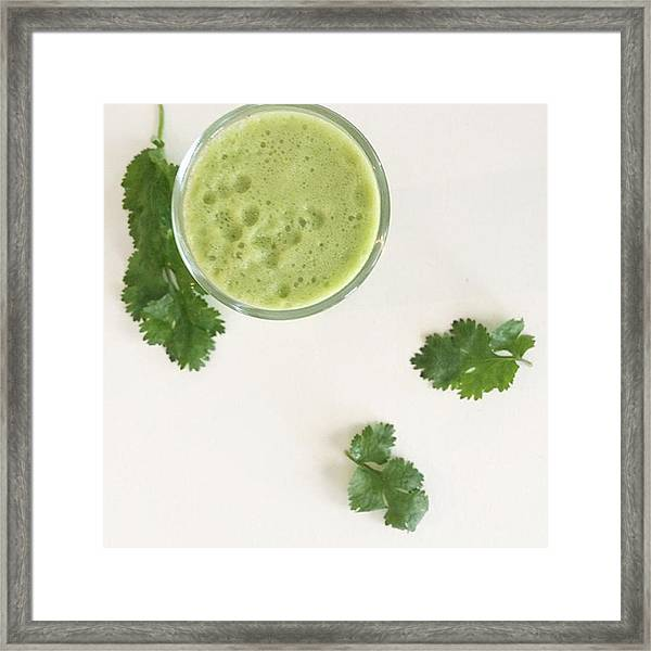 This Cilantro-green Apple Mocktail Is Framed Print