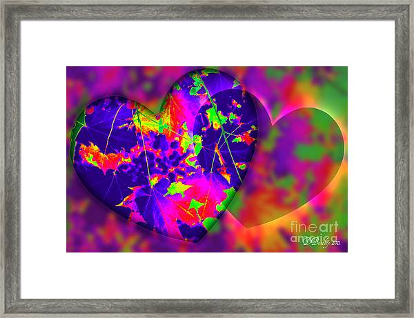 This Hearts For You Framed Print