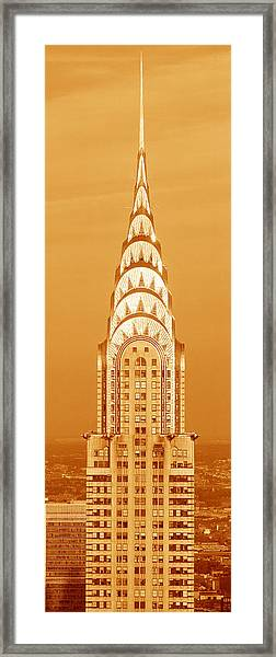 Chrysler Building At Sunset Framed Print