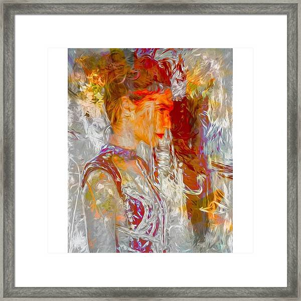 This Is Israeli Model / Actress Gal Framed Print