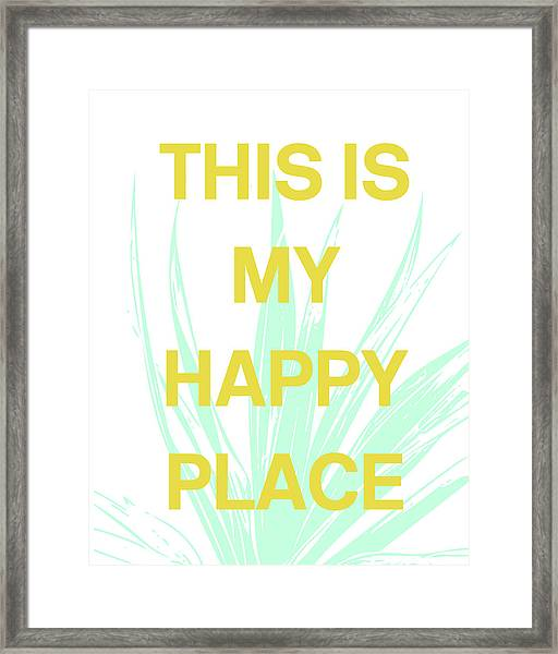 This Is My Happy Place- Art By Linda Woods Framed Print