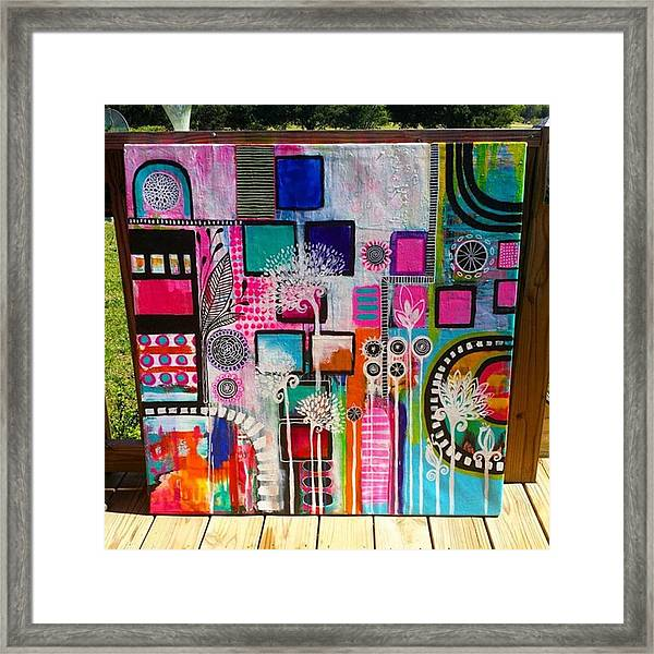 This Is One Of My #abstracts 36 X 36 Framed Print
