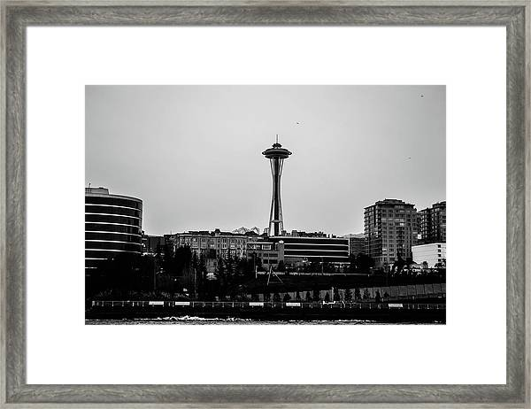 This Is Seattle Black And White Framed Print
