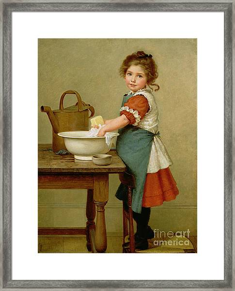 This Is The Way We Wash Our Clothes  Framed Print