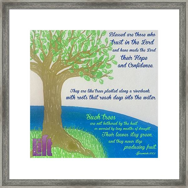 "This Is What The Lord Says: ""cursed Framed Print"