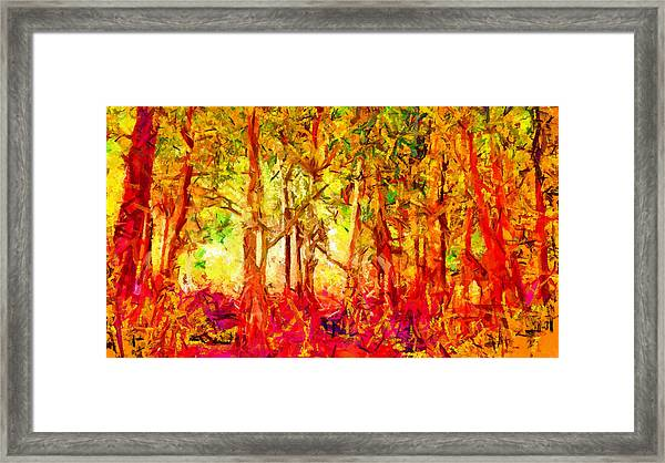 This Light Defeats The Darkness Framed Print