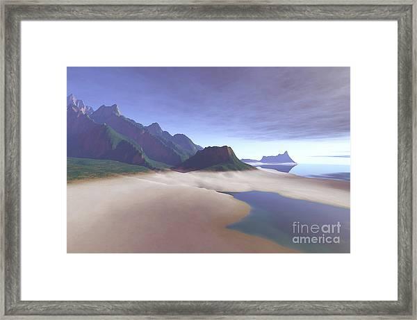 This Misty Hawaiin Coastline Framed Print