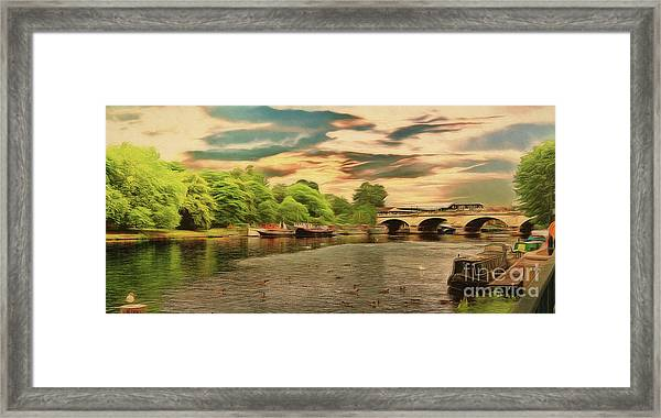 This Morning On The River Framed Print