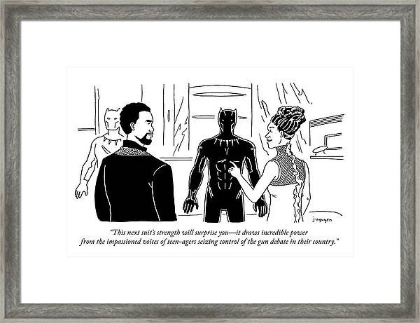 This Suits Strength Will Surprise You Framed Print