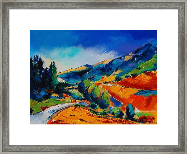Framed Print featuring the painting This Way To Heaven by Elise Palmigiani
