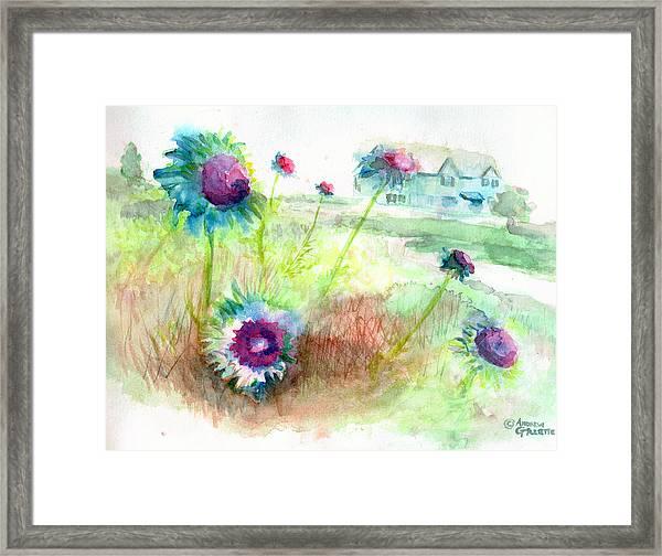 Thistles #1 Framed Print