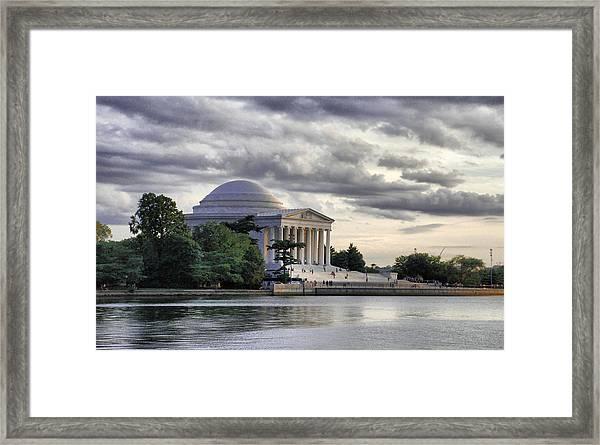 Thomas Jefferson Memorial Framed Print by Gene Sizemore