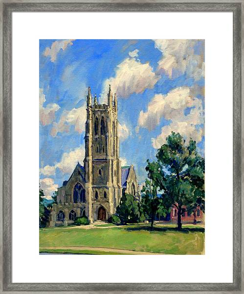 Thompson Chapel Williams College Framed Print