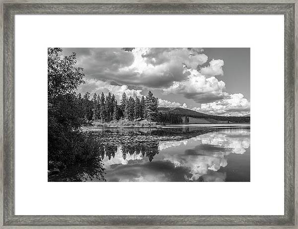 Thompson Lake In Black And White Framed Print