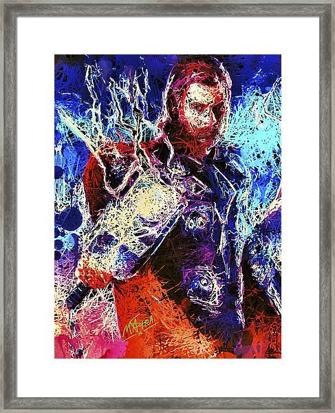 Thor Charged Up Framed Print