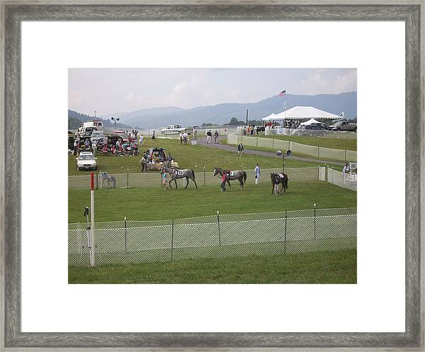 Thornton Hill Point To Point Framed Print