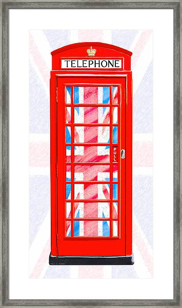 Thoroughly British Flair - Classic Phone Booth Framed Print by Mark Tisdale