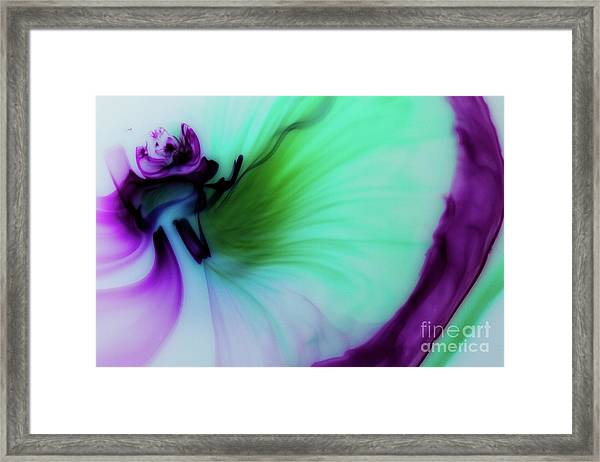 Though The Silence Framed Print