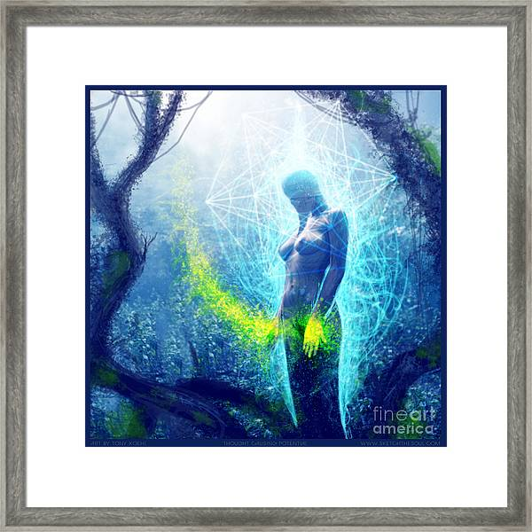 Thought Causing Potential Framed Print