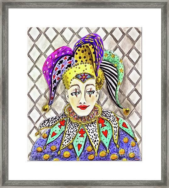 Thoughtful Jester Framed Print