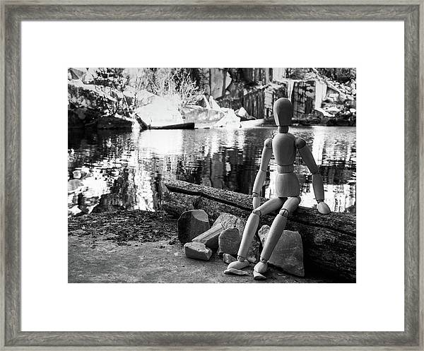 Thoughts Reflected Framed Print