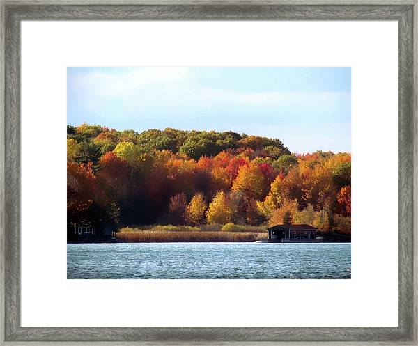 Thousand Island Color Framed Print