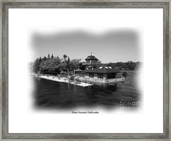 Thousand Islands In Black And White Framed Print