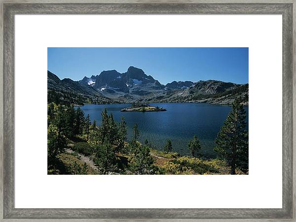 Thousand Islands Lake - Glacier - Mount Davis Jmt Framed Print
