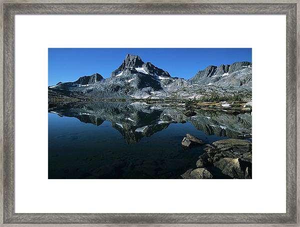 Thousand Islands Lake And Reflection Of Mount Davis Framed Print