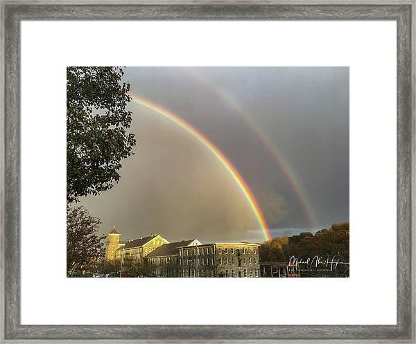 Thread City Double Rainbow  Framed Print
